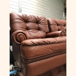 Flawless 5 seater leather sofa set