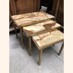 Absolutely Stunning Italian Marble Nest of Side Tables