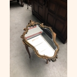 Antique French Hall Mirror with gold elements