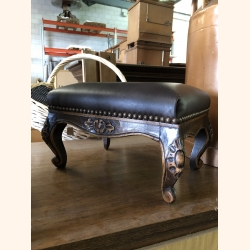 Petite French antique foot rest