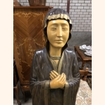 One of a kind spiritual statue 100% wood and hand painted