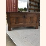 Unique 17th century oak chest extremely detailed