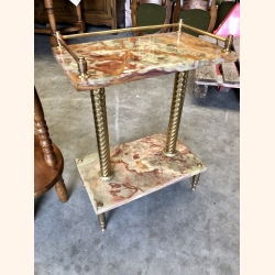 Italian marble & copper side table 1970. Mint condition.