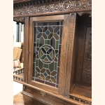 Twin Sister Antique Cupboards 1880 with leaded glass doors