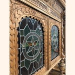 Twin Sister Antique Cupboards III 1880 leaded glass doors