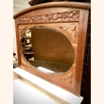 Impressive antique side board with marble and mirror