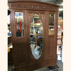 Stunning antique cupboard with mirrors