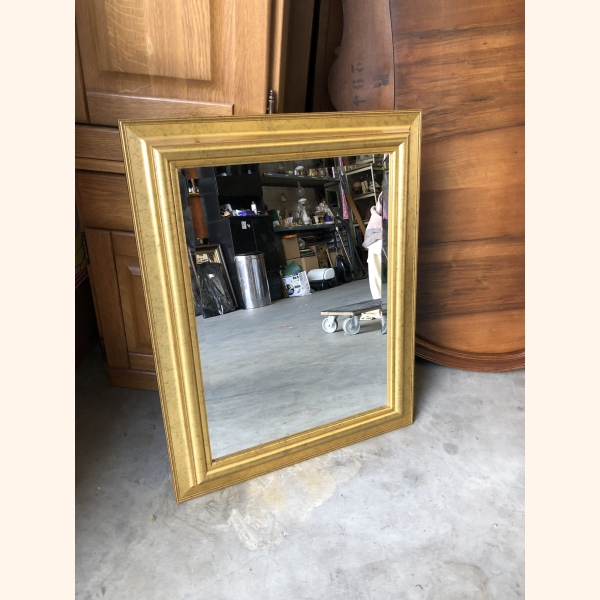 Vintage gold plated frame mirror