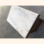 Petite antique oak sideboard with marble top