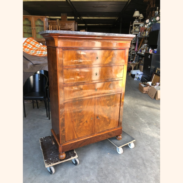Absolutely stunning small antique cabinet with marble