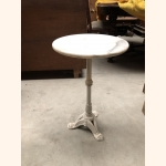Beautiful antique marble side table with iron white frame