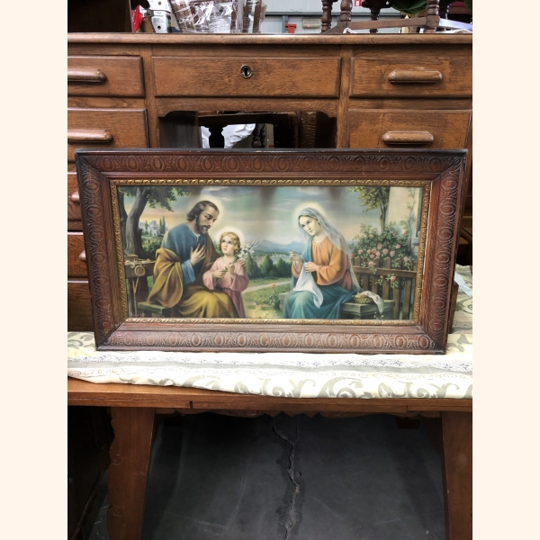 Religious painting 1960. Large.