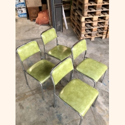 Vintage Apple Green set of chairs
