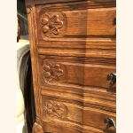 Stunning small Louis XV cabinet pure oak