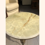 Impressive marble coffee table with copper frame 1950
