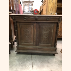 Antique Belgian cabinet in full wood