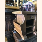 Full wood vintage paper stand with drawer