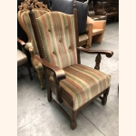 """Antique armchair """"Voltaire"""" made in full oak"""