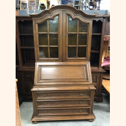 Antique vitrine with built in desk