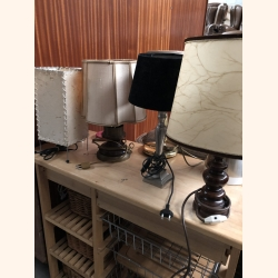 5 different romantic small lamps. Wood and metal.