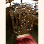 Antique Rococo table with 4 chairs. Impeccable condition. Oak 18th century