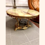 Stunning vintage marble table with gold frame
