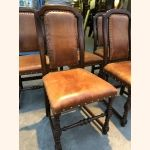 Stunning set of 6 chairs with premium quality leather. Mint condition.