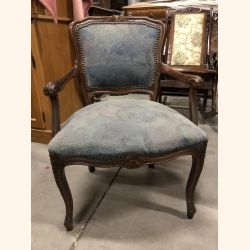 Antique chair blue