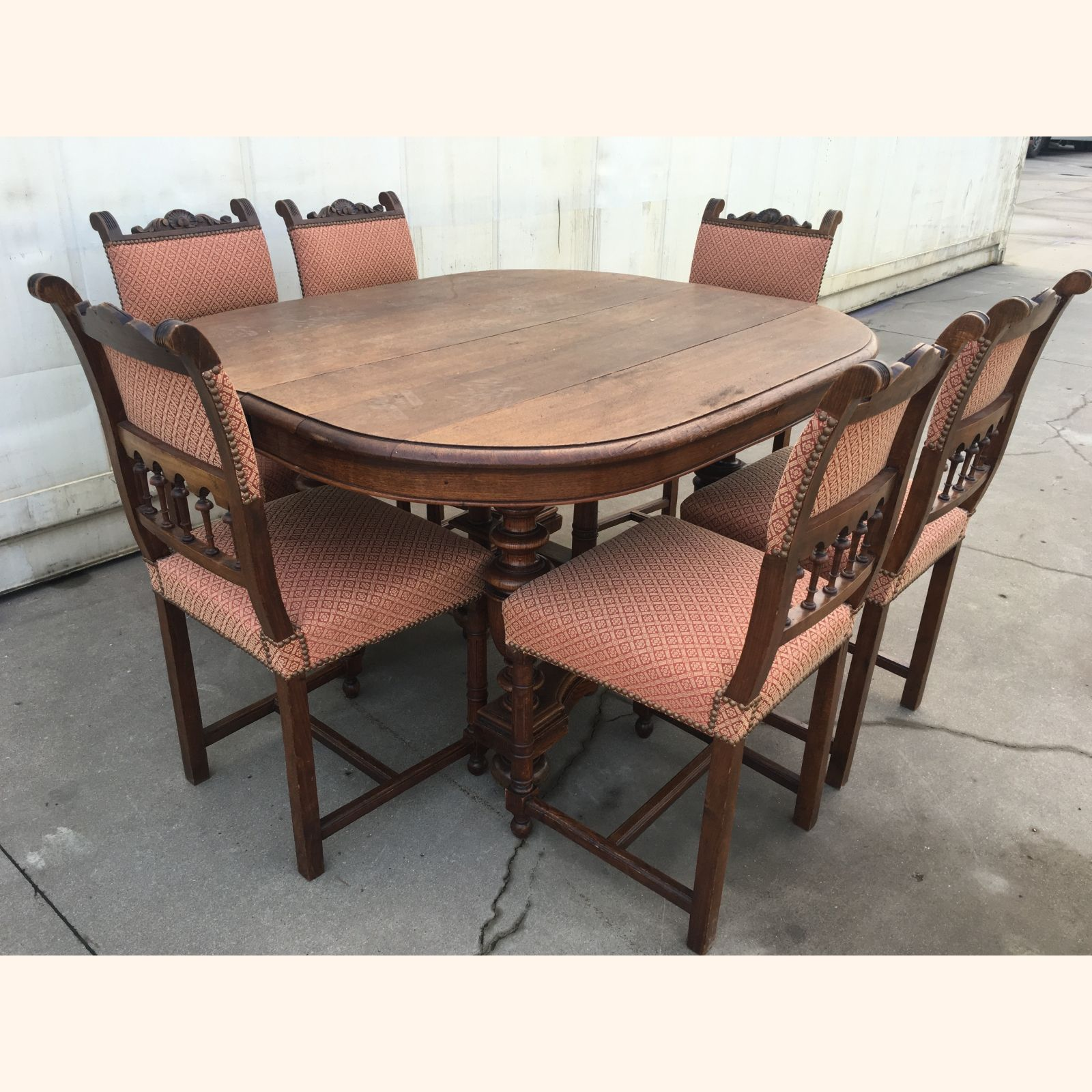 antique dining table and chairs a exports