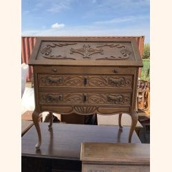 Stunning petite Louis XV desk full wood
