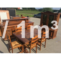 A+ Solid Wood Dining Room Furniture Sets-  Mix - 1m3