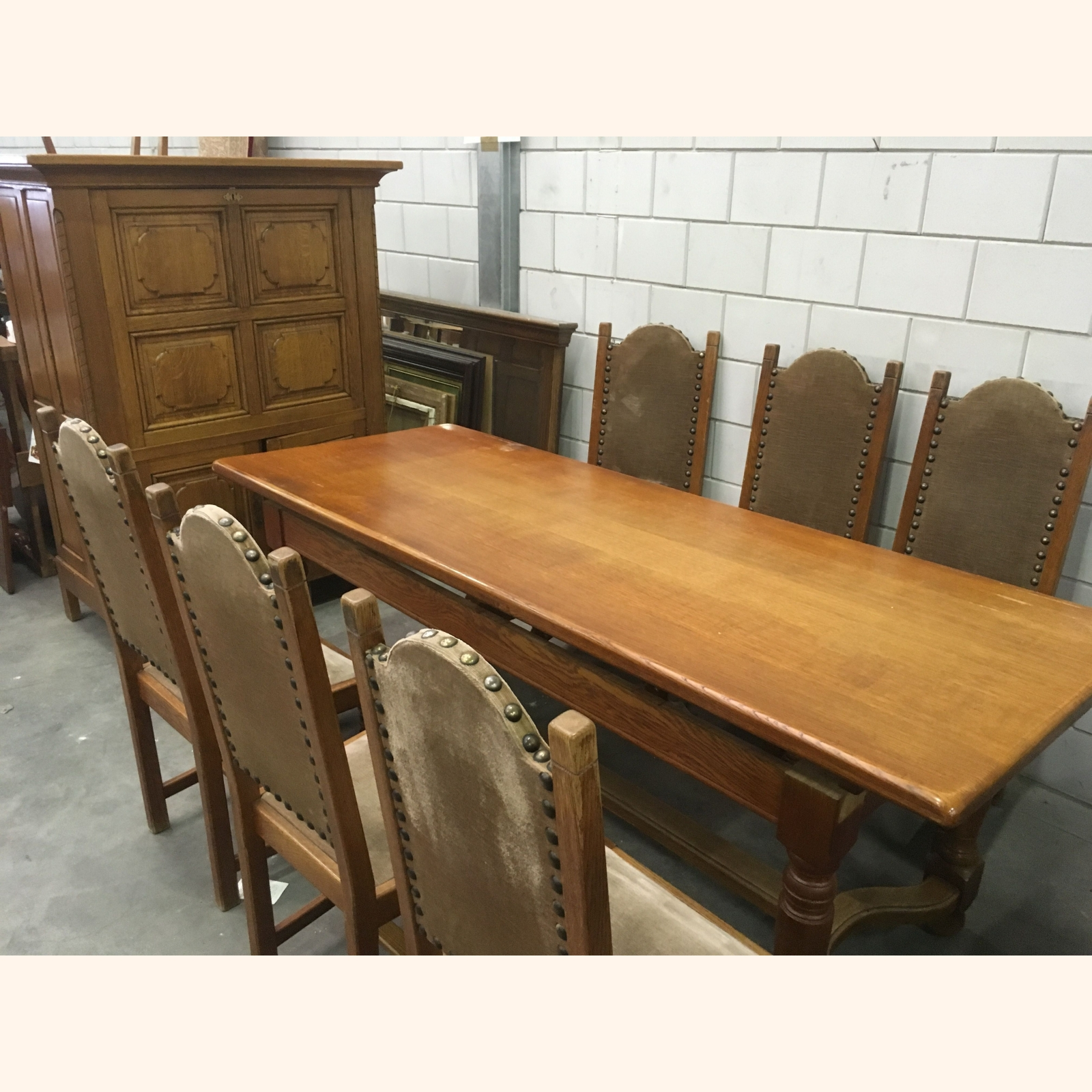 A++ Solid Wood Dining Room Furniture Sets - Mix - 1m3