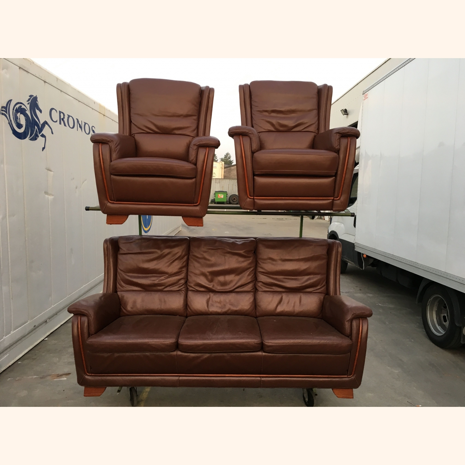 A Leather Living Room Furniture Sets Mix 1m3 A
