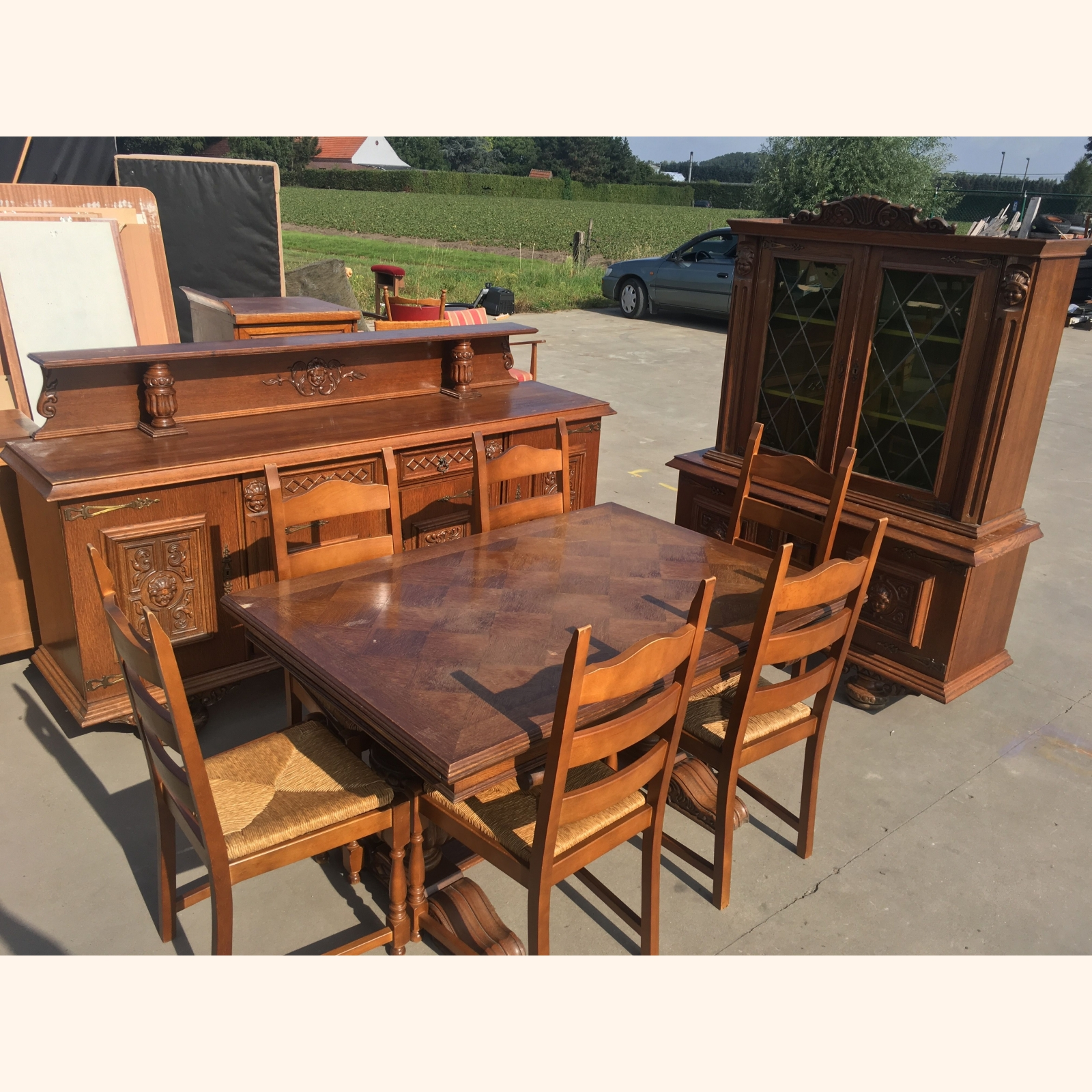 A Solid Wood Dining Room Furniture Sets Mix